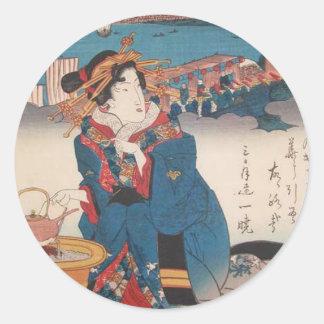 Shinagawa: Heißer Tee durch Keisai Eisen Runder Aufkleber