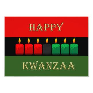 Shine-hell Kwanzaa-Feiertags-Party Einladungen