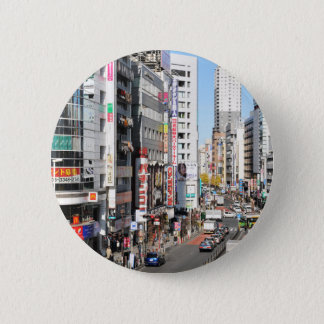 Shinjuku Bezirk in Tokyo, Japan Runder Button 5,7 Cm