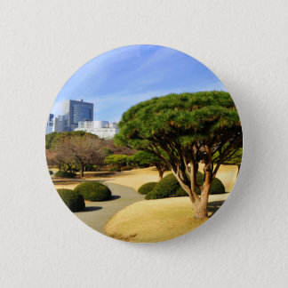 Shinjuku Gyoen nationaler Garten in Tokyo, Japan Runder Button 5,7 Cm