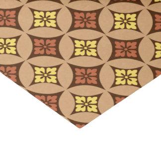 Shippo mit Blumen-Motiv, Brown und goldenem Gelb Seidenpapier