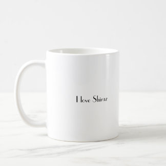 Shiraz1, i-Liebe Shiraz Kaffeetasse