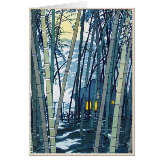 Shiro Kasamatsu Bambus in der Frühsommerkunst Karte