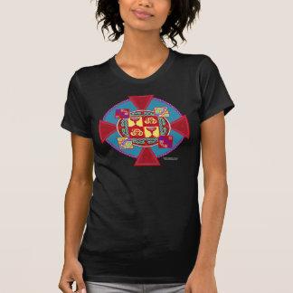 Shirt der Keltechalice-Kreuz-Damen-Twofer