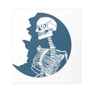 Shirt des blauen Mondes Notizblock