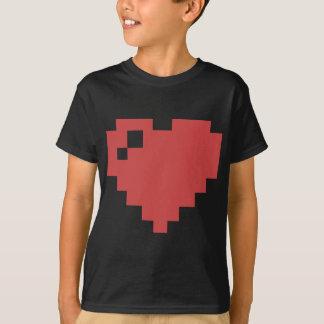 Shirt des Herzens 8bit Kinder