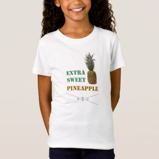 shirt for girls with pineapple imprint & writing