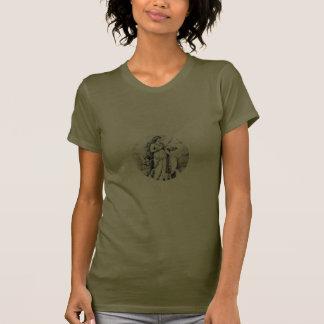 Shirt H Freya Rune-Schild auf Schwarzem