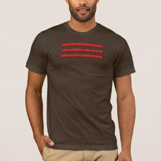 Shirt mit 3 roten Streifen