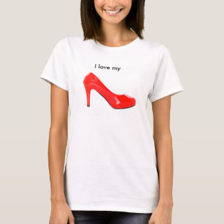 Shirt mit roten High heel