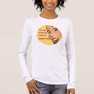 Shirt-Retro Hausfrau TBA ~ Anti--Valentinsgrüße Langarm T-Shirt