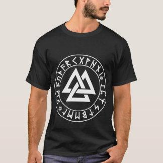 Shirt Tri Dreieck Rune-Schild auf Schwarzem