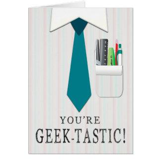 Shirt und Krawatte mit Taschen-Schutzgeek-Tag Karte
