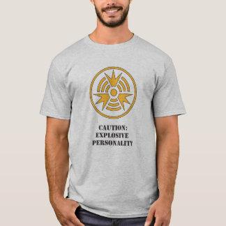 Shirt-Vorsicht explosives Personality.ai T-Shirt