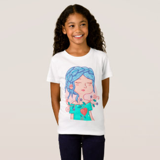 Shirt with illustration Anali heart with flowers