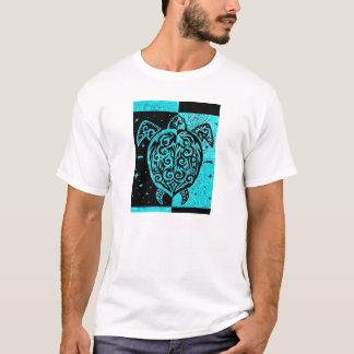 Shirtentwurf der Männer Stammes- Schildkröte und T-Shirt