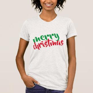 Shirtentwurfsfrauen der frohen Weihnachten Spitzen T-Shirt