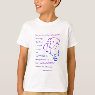 Shirts des Kinderserenity-Gebets w/Dog