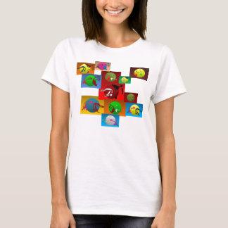 Shirtt-stück Spaghettis capoeira Kriegskünste T-Shirt