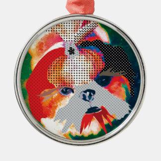 Shitzu Manie Silbernes Ornament