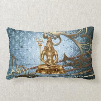 Shiva - Blau, Gold, Damast Amerikaner MoJo Kissen