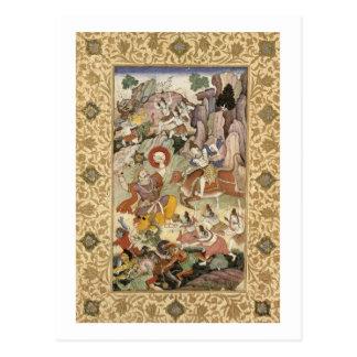 Shiva, das den Dämon Andhaka, c.1585-90 tötet Postkarte