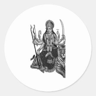 Shiva Göttin Runder Aufkleber
