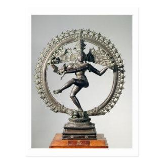 Shiva Nataraja, Tamil Nadu, spätes Chola (Bronze) Postkarte