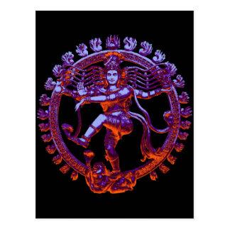Shiva Nataraja Tanzen Postkarte