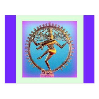Shiva Tanzen im violetten Mystizismus durch Postkarte