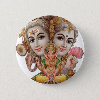 Shiva und Familie Runder Button 5,1 Cm