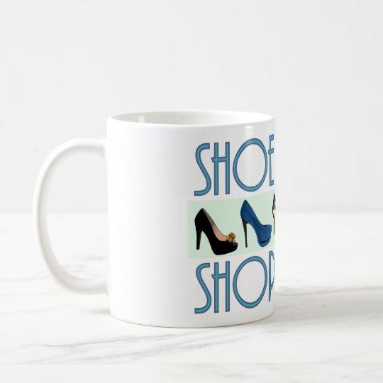 shoe shopaholic kaffeetasse