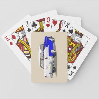 Shoebox Spielkarten 1955 blau und weiß