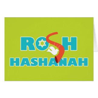 Shofar und Taube Rosh Hashanah moderne helle Karte
