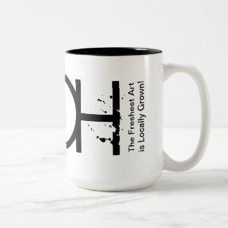 SHOH Kunst-Motto-Tasse Zweifarbige Tasse