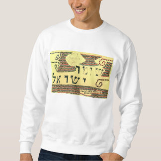 """""""Shomer Israel"""" auf dem Sweatshirt der Männer"""