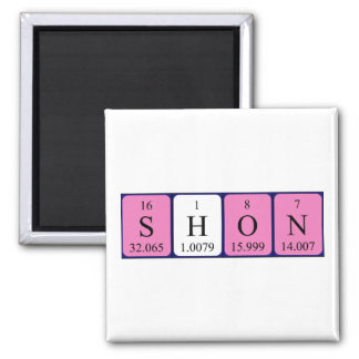 Shon Periodensystem-Namenmagnet Quadratischer Magnet