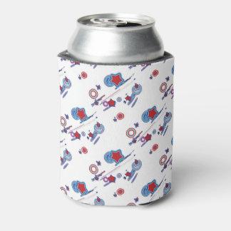 Shooting Stars-rote weiße blaue Bier-Hülse Dosenkühler