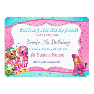 Shopkins Geburtstags-Einladung Karte