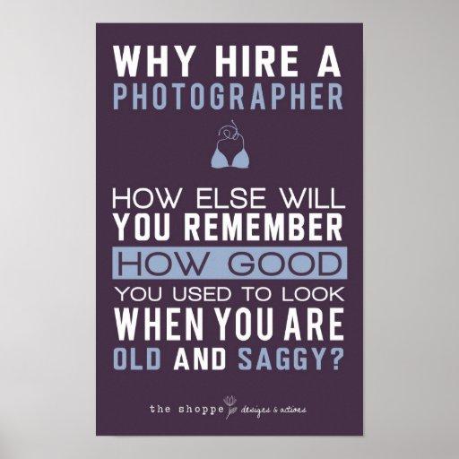 Shoppe-Satire - Spaß für Fotografen Posterdrucke