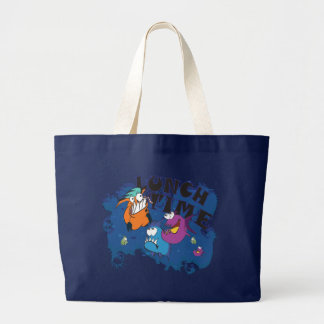 Shopping Bag gross Motiv: Piranha Lunchtime Jumbo Stoffbeutel