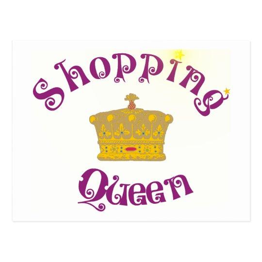 shopping queen postkarte zazzle. Black Bedroom Furniture Sets. Home Design Ideas