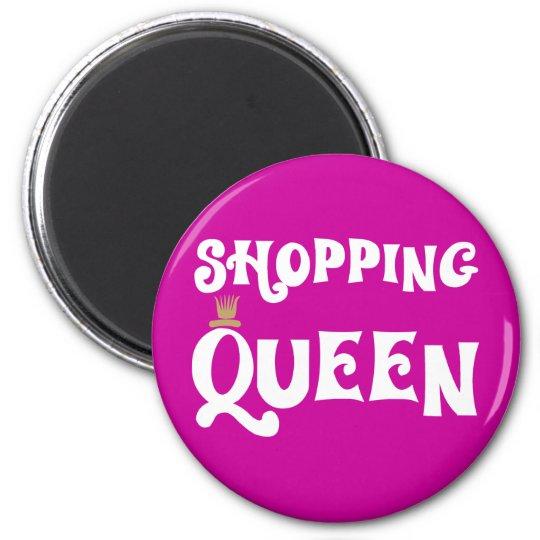 shopping queen runder magnet 5,1 cm