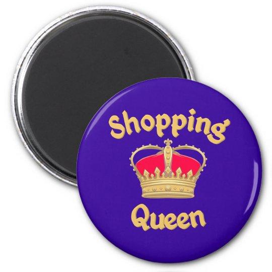 Shopping Queen Runder Magnet 5,7 Cm