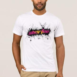 Shortee schwarzer Farben-Spritzer T-Shirt