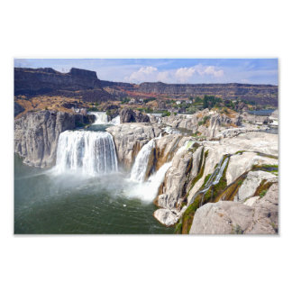 Shoshone fällt auf den Snake River, Idaho Fotodruck