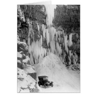 Shoshone fällt in Winter Karte