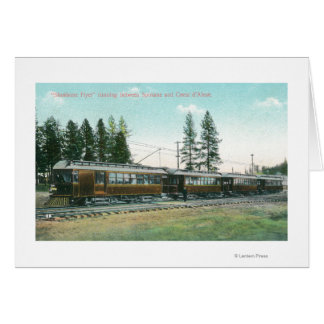 Shoshone-Flyer-Zug weg nach Spokane Karte