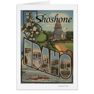 Shoshone, Idaho - große Buchstabe-Szenen Karte