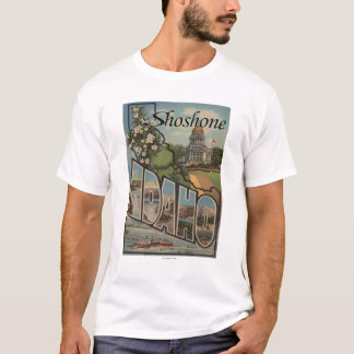 Shoshone, Idaho - große Buchstabe-Szenen T-Shirt